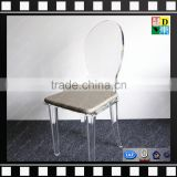 Clear acrylic modern pedicure chair cheap acrylic dining chair crystal PMMA wedding chair from china manufacturer