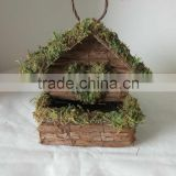Roosting Pocket Bird House Woven Bark and Moss Wild Bird Nest Bird Feeder