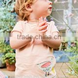 Custom vanityKnitting cotton summer baby girls Plain crop tops wholesale Latest fancy tops girls
