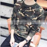 OEM service camo print men's t shirt long sleeve causal loose wear cool boys pullover sweater