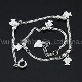 925 Sterling Silver Fish Fashion Anklets