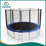 Mzone 6-16ft indoor outdoor trampoline with safety net