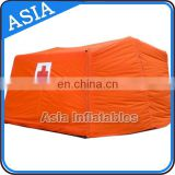 Durable PVC Tarpaulin Inflatable Medical Tent / Inflatable Tent For Recue, Inflatalbe Red Cross Tent For Relief