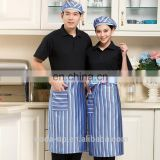 stripe cotton polyester kitchen apron with custom logo high quality manufacturer from China