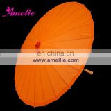 A0389-orange Sun protection orange bridal umbrella parasols