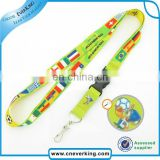 Cute sublimation printng polyester anime lanyard strap