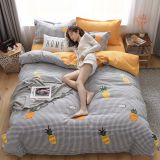 4Pcs Thickened twill worsted lace luxury bedding sets queen king size duvet cover set bed skirt set