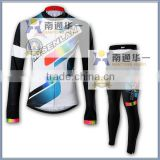 female whole sale sublimation print cycling jersey & pant, cycling long sleeve wear sets