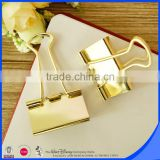 Hot selling stationery wholesale gold binder clips                                                                         Quality Choice