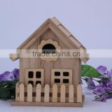 China supplier crafts hang Christmas wooden bird house wholesale modern design wooden bird house high quality wooden bird house