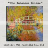 Professional Painter Team Directly Supply High Quality Impression Landscape The Japanese Bridge Oil Painting Works On Canvas