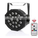 New 18*1W RGB LED Flat PAR with Battery&IR Wireless control                                                                         Quality Choice