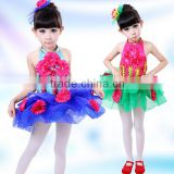 New design little girl dance costumes Child performance wear costume princess dress tulle ballet dance stage costume