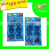 6 Pack Auto Harpic Blue Bubble Solid Toilet Cleaner