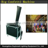Flight case Stage confetti paper machine Powerful gas motive confetti machine Co2 or N2 confetti cannon big with flycase