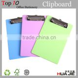 hot sale A4 plastic clipboard with metal clip file folder