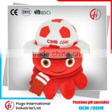 Hot selling Cheap Promotional Custom Gift Handwork Embroidery Designs Plush Cute Octopus Soft Toy