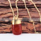 2015 Hot Wholesale Dye Rose Red Pearl Pendant Necklace