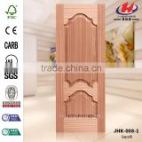 JHK-008-1 Russian Good Quality Office Project Wood Grain Sapelli Veneer Mould MDF Entry Door Skin