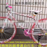 24 INCH/26 INCH FIXIE BIKE WITH BAND -TYPE BRAKE /FIXED GEAR ROAD BIKE / MIXED COLOR FLASHY FIXED GEAR BIKE FACTORY