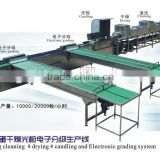 stainless 10000/20000pcs/h egg cleaning drying candling and electronical grading machine