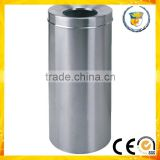 durable cylindrical open top rubbish container stainless steel dustbin