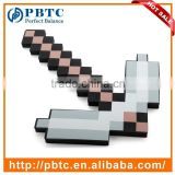 Kids Game Cosplay Toy Pixel Weapon Iron Color EVA Foam Pickaxe