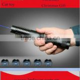 With 5 patterns 450nm Blue cheap powerful laser pointer 1000mw+16340battery+charger+safety glasses Image