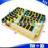 Hot Sale Commercial Trampolines Park With Ball Pool and Basketball Hoop