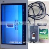 time attendance software with FTP604 android Tablet PC with Fingerprint Identity card reader Sm2D