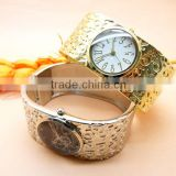 ladies quartz punk wide cuff bangle watches