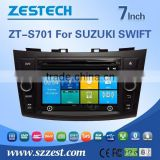 car dvd vcd cd mp3 mp4 player for Suzuki Swift support GPS, bluetooth, steer wheel control, TV, FM/AM, RDS, SD