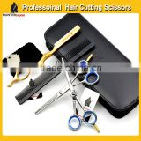 5.0 inch japanese stainless steel professional hair dressing shears kit for barber using