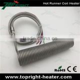 Coil Heater Embedded in Aluminum for Hot Runner, Sheathed with Stainless Steel Sleeves, Heating Tube