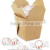 portable kraft paper take out box