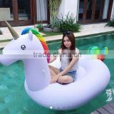 cutomised eco friendly giant pvc inflatable unicorn rider for water playing , sports animal floating rider