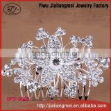 2015 New arrived wedding hair accessories wholesale rhinestone crystal bridal hair comb for women