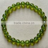 5mm natural genuine peridot semi-precious loose beads stretch bracelets
