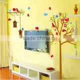 "180x130cm (71""x51"") Cute Bird Tree Wall Sticker Large Home Decoration DIY Forest Animal Decal Removable Adesivo de Parede JM7157"