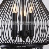 Restoring ancient ways, wrought iron birdcage chandelier industrial American meals chandeliers creative lamp personality bar dro