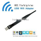 AC 600 Dual Band 5Ghz 2.4Ghz 600Mbps USB WiFi Adapter with 5dBi Antenna