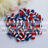 500Pcs 8MM Fashion Style Bracelet Finding Round Resin Plastic Ball Red White Blue Resin Zebra Beads
