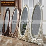 18th century French baroque style Italian design elegant romantic royal solid wood hand carved elegant bdressing mirror