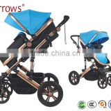 Lightweight Colorful Aluminium Alloy Baby Strollers Baby Pram Baby Push Chair Folding Easily 600D Oxford Polyster Fabric