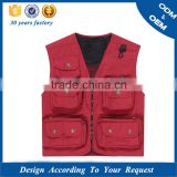 2015 photographer vest jacket Made In China polo vest jacket Comfortable padding mens vest jacket