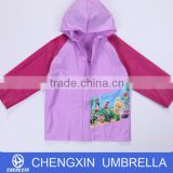 ladies pvc raincoat with hood from alibaba supplier