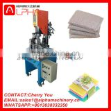 Commercial cleaning sponge making machine/dish washing scrubber making machine/scourer knitting machine