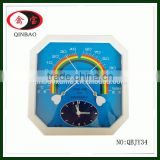 High Quality Wall Colck Type Plastic Bimetal Thermometer Hygrometer