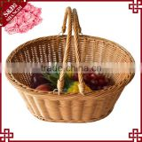 S&D Hot Sale Universal Large White Wicker Handmade Round Hamper With Handle picnic basket baby gift baskets