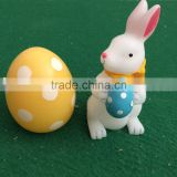 Set of 2 led easter candle led rabbit egg candles led flicking candle real wax easter candle led scented candle for easter